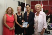 Prime Minister Wescot-Williams Presented with Copies of Practical Guide for Visitors to St. Maarten