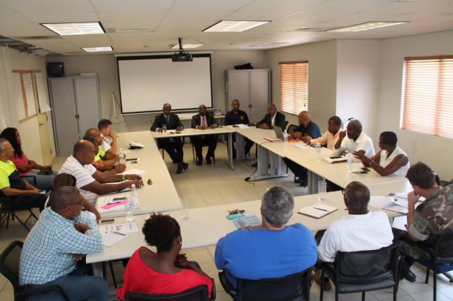 All ESF Groups were present, ESF-1 NVGEBE, ESF-2 Bureau Telecommunication & Post SXM, ESF-3 Public Works/Ministry of VROMI, ESF-4 Fire Department, ESF-5 Police Department, ESF-6 Public Health, ESF-7 Social Development, ESF-8 Department of Communication, ESF -9 Government Affairs, ESF-10 Ministry of TEATT.
