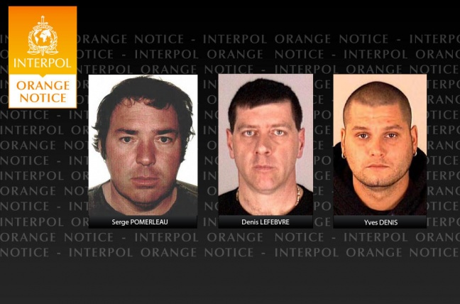 Fugitives from justice. INTERPOL Photo