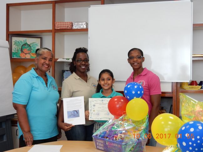 CPS staff with the winner of the essay contest Mahika Ramchandani (3rd from left).