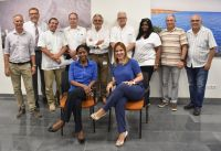 In the photo: the Bonaire's general practitioners Lont,  Bernabela, Castro de Castro Palomina, Castro Tase, Schräder, Van der Vaart, Hermelijn and Miranda after signing the renewal of their contracts with the ZVK, in front of the head of ZVK, mr. Angel Bermudez, Gert-Jan Ter Braak, head medical advisory and Rex van Ingen, account manager of the ZVK.