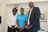 Dr. Francio Guadeloupe, President of USM, honorable Minister Ms. Silveria Jacobs, Dr. Hall President of UVI.