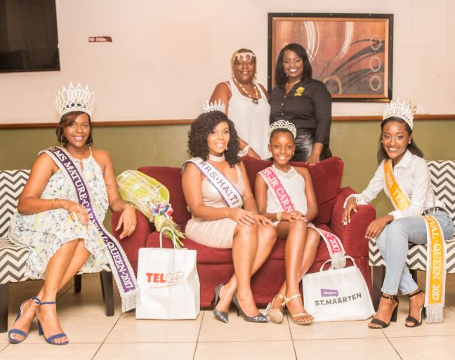 2017/2018 Carnival Queens alongside Mrs. Haiti International Mrs. Judith Leger, President of VOICES Foundation Ms. Nkosazana Illis and Founder and CEO of Posh Productions Mrs. Anna Rabess - Richardson.
