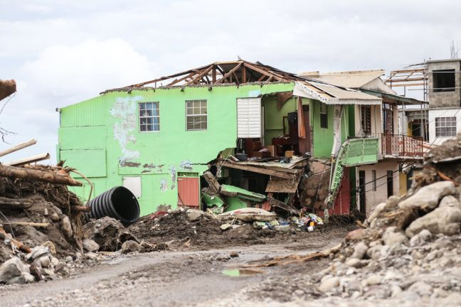 A house destroyed by Hurricane Irma in Loubiere, about 15 minutes' drive from Roseau, capital of Dominica. Photo: UNICEF/Moreno