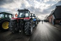 Groningen farmers took their protest about the earthquake damage to The Hague on Thursday. Photo: Anjo de Haan / HH