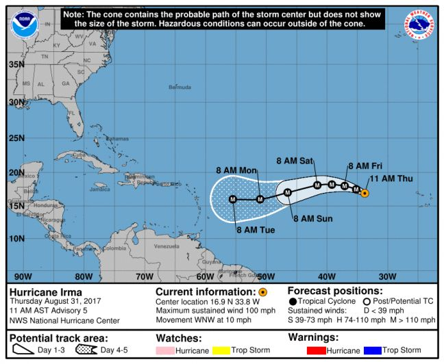 NEW - WEATHER WATCH HURRICANE IRMA: Could Strengthen into an Extremely Dangerous Category 4 System