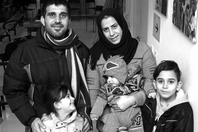 This family relocated from Greece to Portugal in February 2017. Photo: IOM 2017