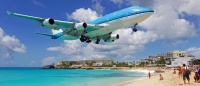 KLM landing at SXM Airport (photo courtesy SXM Airport)