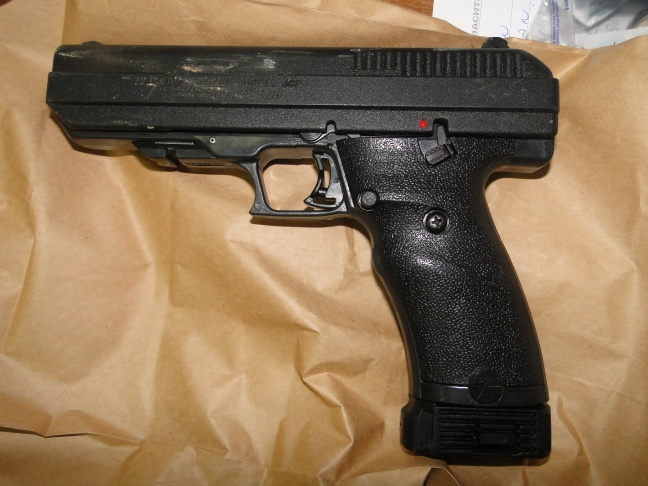 Police Photo: One of the guns confiscated this weekend by Police during one of their controls.