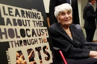 Holocaust survivor Naomi Warren participates in 'Learning about the Holocaust through the Arts' at the UN Headquarters in New York. UN Photo/Paulo Filgueiras