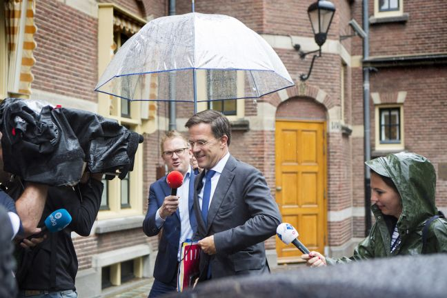 Prime Minister Mark Rutte arrives for the talks. Photo: Najib Nafid via HH