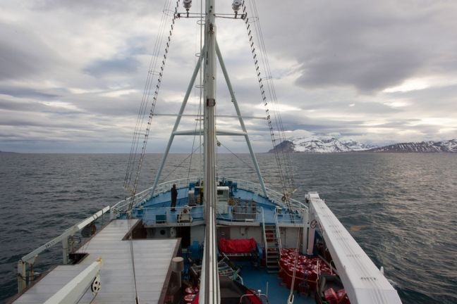 A view of the high Norwegian Arctic while aboard the Research Vessel Lance (July 2015). UN Photo/Rick Bajornas