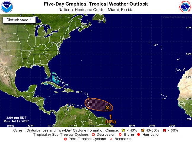 WEATHER WATCH: Tropical Wave continues to be monitored for possible development