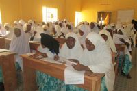 A UNESCO-Federal Government-supported literacy class in Kano, North-West Nigeria, being part of the project, 'Revitilising Adult and Youth Literacy in Nigeria'. Photo: UNIC Lagos