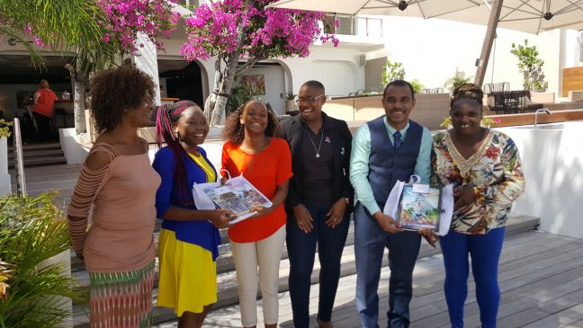 Ann Meyers (Kiara's Gran ma), Rashana Jones 2016 Barbados Junior Minister of Tourism, Kiara Meyers the 2017 Junior Minister of St. Maarten, Lisa Noel Tourist the St. Maarten Tourist Bureau representative, Rolando Brison Director of the St. Maarten Tourist Bureau and Ms. Jennifer Miller (Rashana Jones' mom).