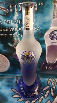Police is trying to locate distributors of BLEU STORM VODKA brand