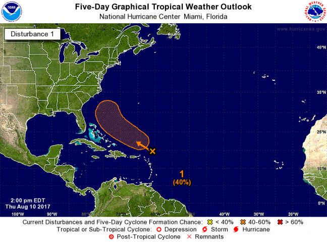 Invest 99-L Located 200 Miles to the Northeast of the Lesser Antilles