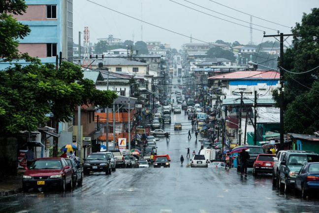 Benson Street in downtown Monrovia, Liberia. Photo: Morgana Wingard/UNDP
