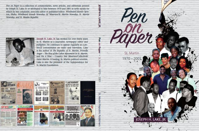 The cover of Pen on Paper: St. Martin 1970 – 2017 by Joseph H. Lake, Jr.