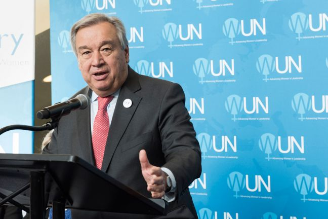 Secretary-General António Guterres. UN Photo/Mark Garten (file)