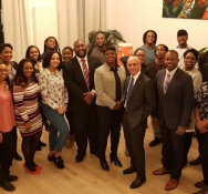 Sint Maarten Students in Holland  meet with Prime Minister Romeo-Marlin and Minister Ferrier