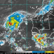 New weather system heading for Lesser Antilles. Could become a tropical storm/hurricane next week