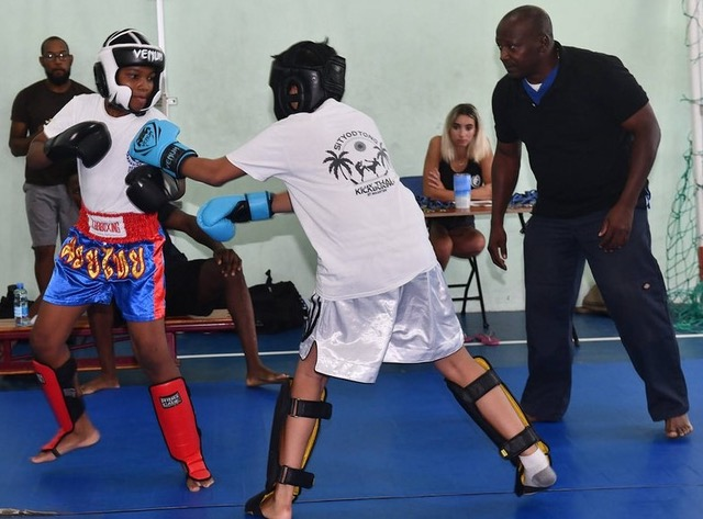 9 year old Jaden Busby competed in both Muay Thai and Jiu Jitsu