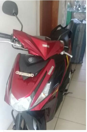 police Stolen red scooter