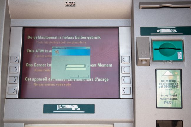 Two arrested after explosive attack on ATM at village bank