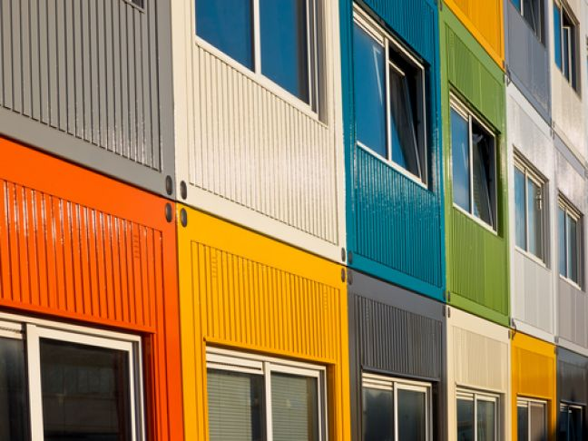 Students in the Netherlands sometimes live in converted shipping containers.