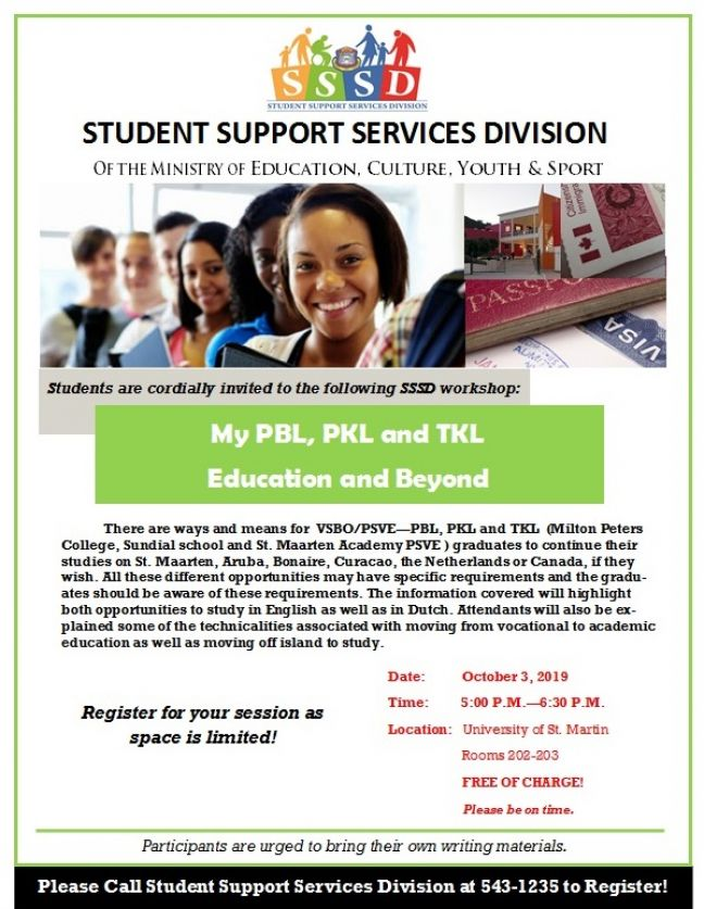 "Free workshop hosted by SSSD. ""My PBL, PKL and TKL Education and Beyond"""