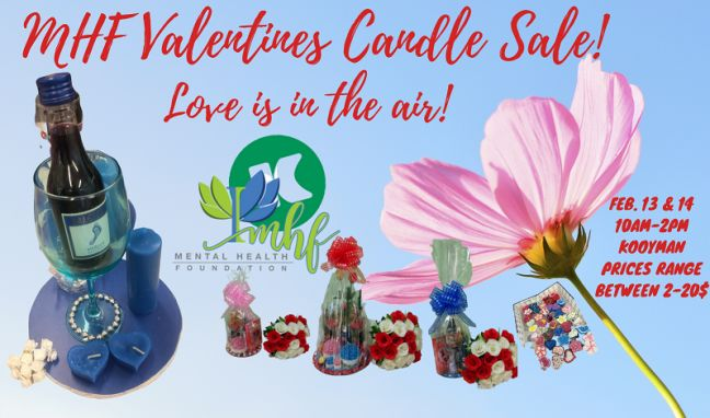 Love is in the air. Support MHF Valentine Candle Sale