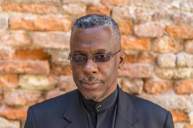 Lasana M. Sekou, St. Martin poet (file photo), as a literature conference guest author in Venice, Italy, 2017. (HNP photo)