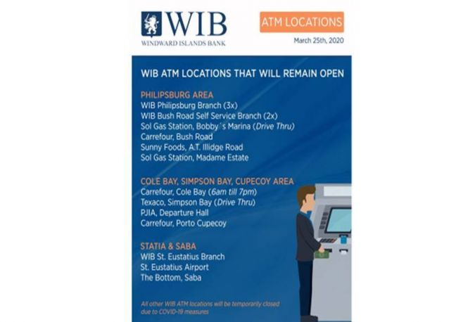 WIB ATM LOCATIONS WILL REMAIN OPEN