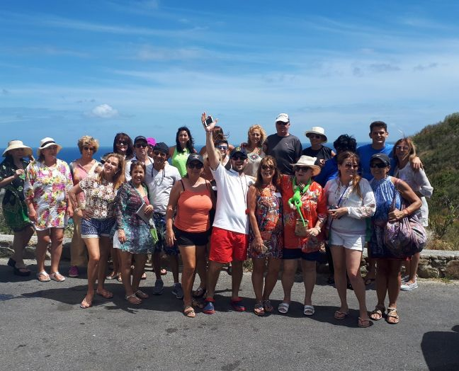 The group of South American travel agents who toured the island recently.