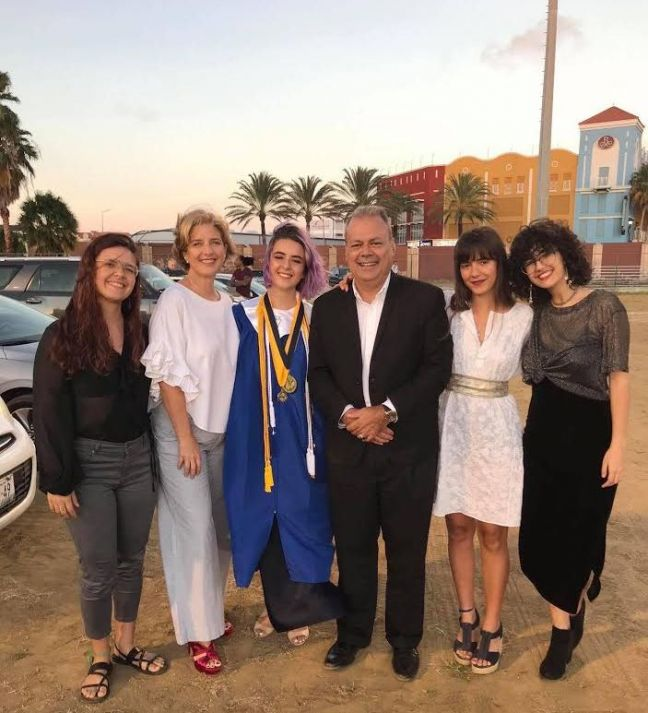 Catherine Ribeiro on her graduation day with her parents and siblings.