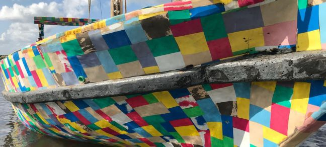 UN Environment The FlipFlopi dhow, a 9-metre traditional sailing boat made from 10 tonnes of discarded plastic, will be the first boat of its kind to launch a world expedition on 24 January, 2018.