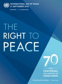 International Day of Peace on September 21 Peace and Justice for All