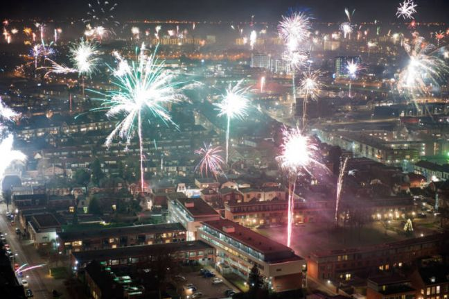 New Year fireworks in Enschede. Photo: Depositphotos