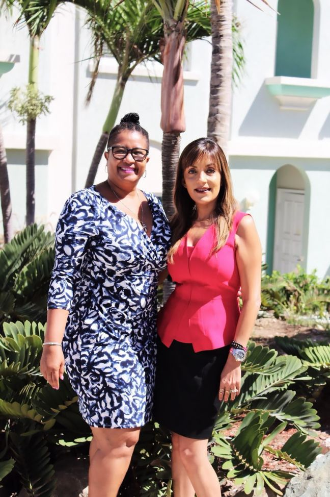 Anju Snow (right) is Oyster Bay Beach Resort's new Assistant General Manager and Mientje Illis-Brown was promoted to Director of Operations/Human Resources Manager.