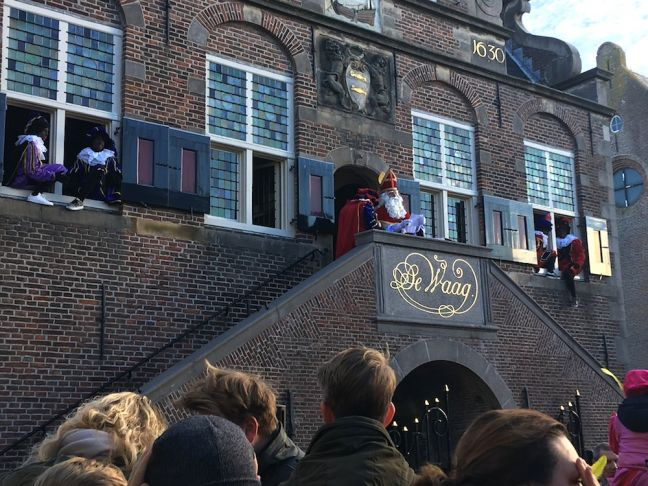 Sinterklaas and traditional Piets in the Dutch village of De Rijp. Photo: DutchNews