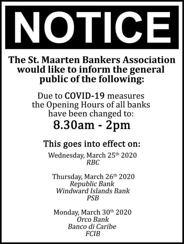 Bankers Association introduces new banking hours Wednesday