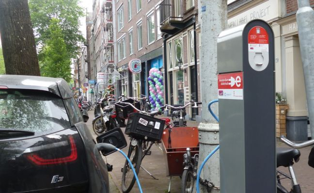 Charging station in Amsterdam. Photo: DutchNews