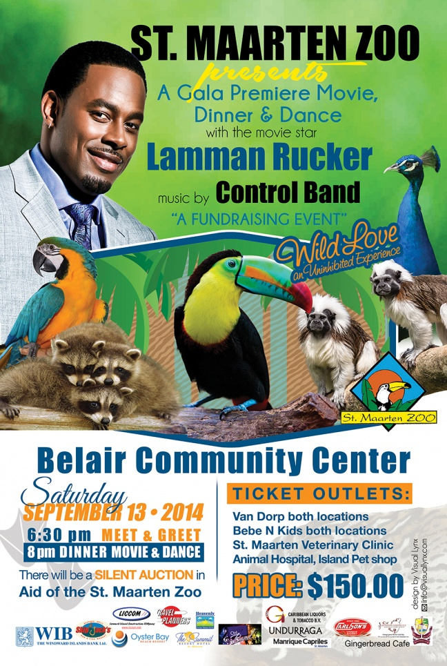 Support the St. Maarten ZOO Gala Dinner & Dance this Saturday - Lets Keep Our Zoo Alive