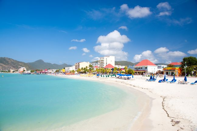 Great Bay Beach, Philipsburg, Sint Maarten (File photo)