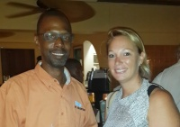 William Bell from the Tourist Office and Maaike van Mameren from Princess Heights during SHTA's Mixer at OBBR.