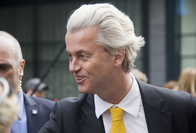 Geert Wilders on the campaign trail. Photo: Depositphotos
