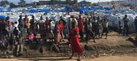 UNHCR/Gloria Ramazani A view of an internally displaced site at the General Hospital in Bunia, Ituri province. 19 March 2018.
