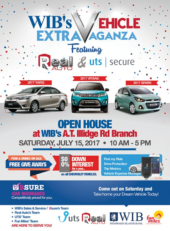 WIB Does It Again Open House. Check out the Vehicle Extravaganza this Saturday