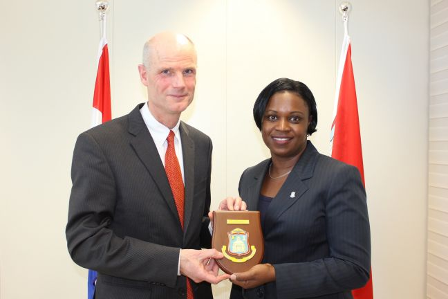 Dutch Minister of Foreign Affairs Stephanus Blok paid courtesy visit to Prime Minister Leona Romeo Marlin.